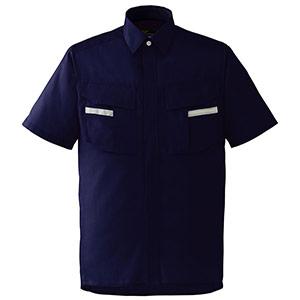 ベルデクセルフレックス 半袖シャツ VES47 上 ネイビー