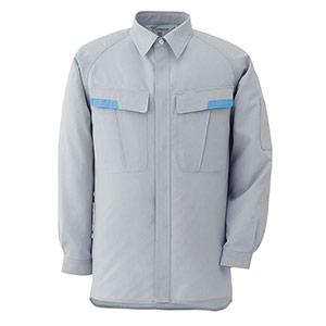 ベルデクセルESD IEC対応高機能 男女ペア長袖シャツ VES281上 シルバーグレー