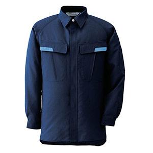 ベルデクセルESD IEC対応高機能 男女ペア長袖シャツ VES287上 ネイビー