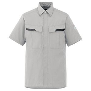 ベルデクセルフレックス 半袖シャツ VES61上 シルバーグレー