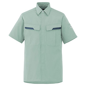 ベルデクセルフレックス 半袖シャツ VES66上 ライトグリーン