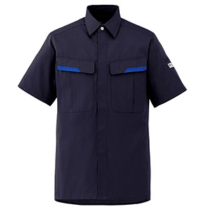 ベルデクセルフレックス 半袖シャツ VES67上 ネイビー