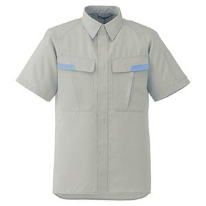 ベルデクセル IEC対応高機能 男女ペア半袖シャツ VES81 上 シルバーグレー