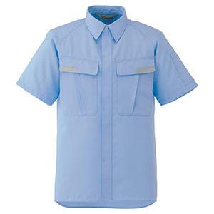 ベルデクセルESD IEC対応高機能 男女ペア半袖シャツ VES83上 ブルー