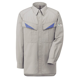 E/C男女ペア長袖シャツ GS2631 上 シルバーグレー