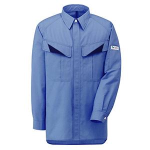 E/C男女ペア長袖シャツ GS2633 上 ライトブルー