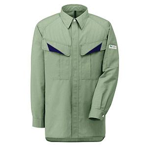 E/C男女ペア長袖シャツ GS2636 上 グリーン