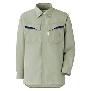 ベルデクセルフレックス プランテックス T/C ストレッチ長袖シャツ VES2496 上 アースグリーン