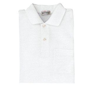 長袖ポロシャツ PS200 上 ホワイト