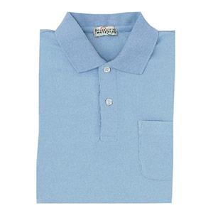 長袖ポロシャツ PS202 上 サックス