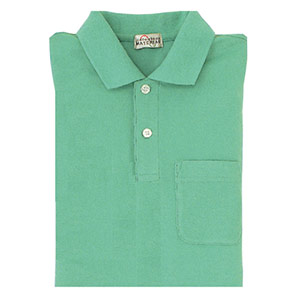 長袖ポロシャツ PS206 上 ミントグリーン