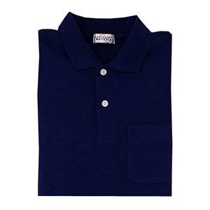 長袖ポロシャツ PS207 上 ネイビー