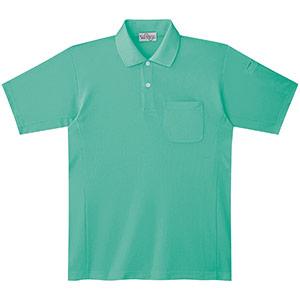 ベルデクセルフレックス エコ帯電防止 半袖ポロシャツ PS16上 ミントグリーン