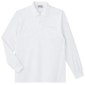ベルデクセルフレックス エコ帯電防止 長袖ポロシャツ PS210 ホワイト