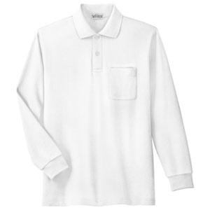 長袖ポロシャツ PS200N 上 ホワイト