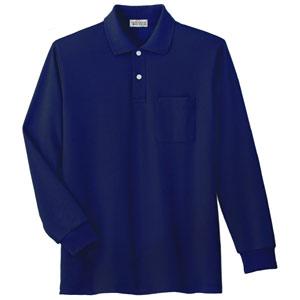 長袖ポロシャツ PS207N 上 ネイビー