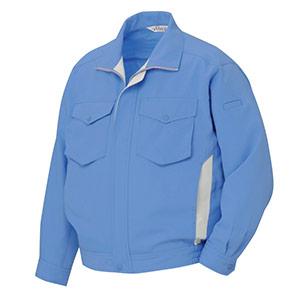 低発塵・吸汗・速乾・防汚 ペア長袖ブルゾン RCS2463 上 ブルー