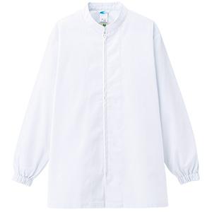 白衣 男女共用 長袖コート MHS27 上 ホワイト