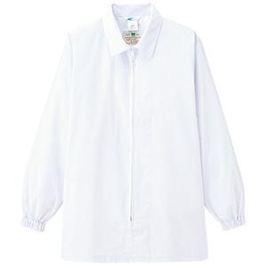 白衣 男女共用 ステンカラー長袖コート MHS28 上 ホワイト
