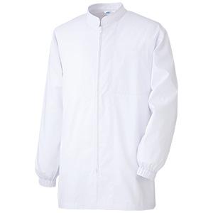白衣 男女共用 長袖コート MHS327 上 ホワイト