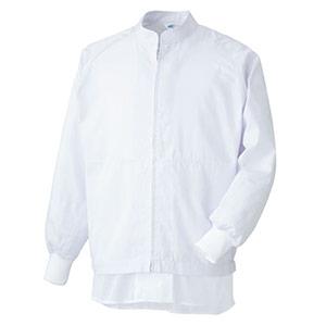 白衣 男女共用 長袖ブルゾン MHS3213W 上 ホワイト