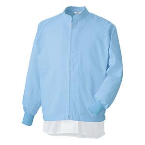 白衣 男女共用 長袖ブルゾン MHS3213B 上 ブルー