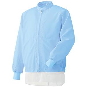 白衣 男女共用 長袖ブルゾン MHS3218B 上 ブルー