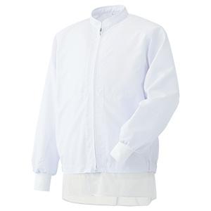 白衣 男女共用 長袖ブルゾン MHS3218W 上 ホワイト