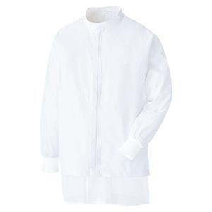 白衣 男女共用 長袖ブルゾン MHS 3219W 上 ホワイト