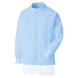 白衣 男女共用 長袖ブルゾン MHS 3219B 上 ブルー