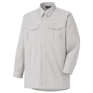 混紡 ペア長袖シャツ GS2351 上 シルバーグレー