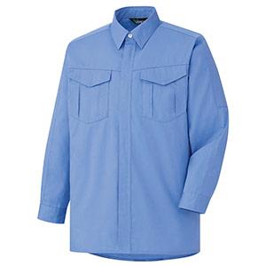 混紡 ペア長袖シャツ GS2353 上 ライトブルー