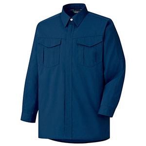 混紡 ペア長袖シャツ GS2357 上 ネイビー