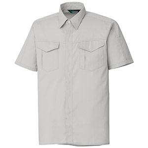 混紡 ペア半袖シャツ GS351 上 シルバーグレー