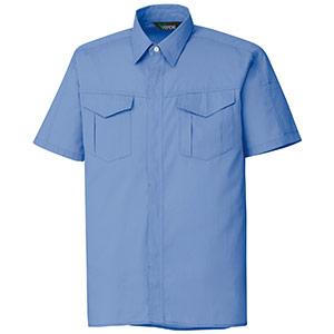 混紡 ペア半袖シャツ GS353 上 ライトブルー