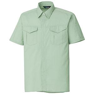 混紡 ペア半袖シャツ GS356 上 ライトグリーン