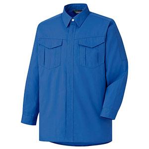 混紡 ペア長袖シャツ GS2358 上 ロイヤルブルー