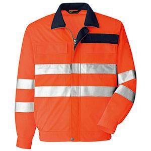 JIS T 8127適合 高視認長袖ブルゾン VES2605 上 オレンジ