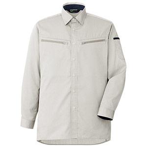 男女共用 ハーネス対応 長袖シャツ VES2591 上 シルバーグレー