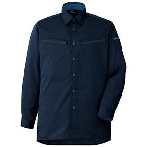 ベルデクセルフレックス 男女共用 ハーネス対応 長袖シャツ VES2597上 ネイビー