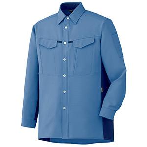 男女共用 長袖シャツ GS2703 上 ライトブルー