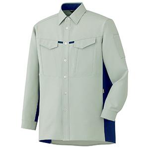 男女共用 長袖シャツ GS2706 上 ライトグリーン