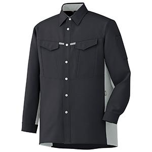 男女共用 長袖シャツ GS2709 上 チャコール