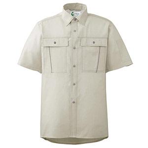 ペア半袖さらりシャツ RCS600 上 アイボリー