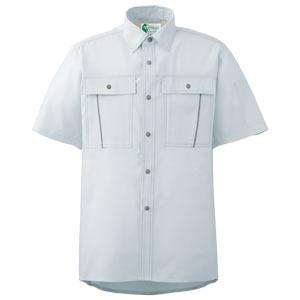 ペア半袖さらりシャツ RCS601 上 シルバーグレー