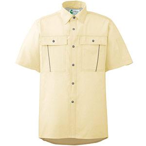 ペア半袖さらりシャツ RCS604 上 イエロー