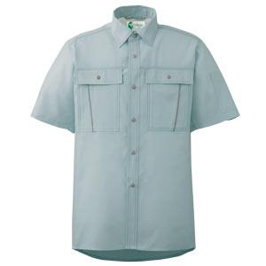ペア半袖さらりシャツ RCS606 上 グリーン