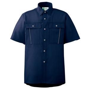 ペア半袖さらりシャツ RCS607 上 ネイビー