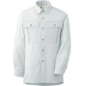 ペア長袖さらりシャツ RCS2601 上 シルバーグレー