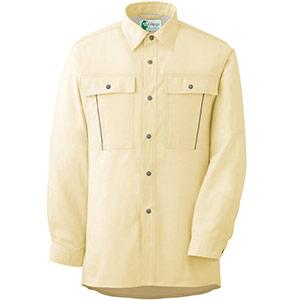 ペア長袖さらりシャツ RCS2604 上 イエロー